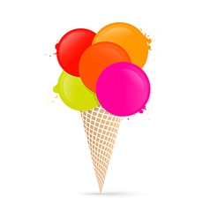 Colorful ice cream isolated on white background vector