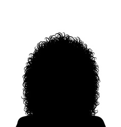 Woman with curly hair vector