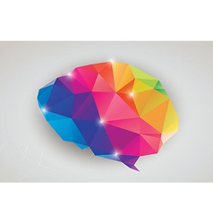 Abstract geometric human brain triangles vector