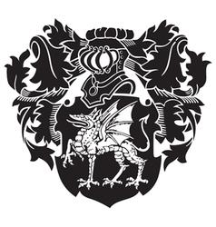 Heraldic silhouette no26 vector