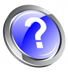 3d question icon vector