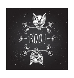 Boo - on chalkboard background vector