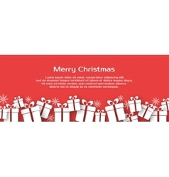 Christmas banner with gift boxes vector