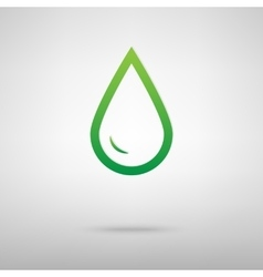 Drop of water green icon vector