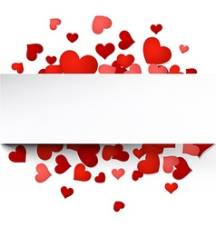 Valentines card with hearts vector