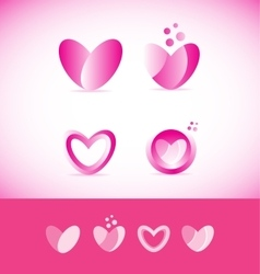 Valentine love heart logo vector