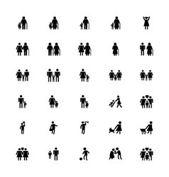 Family and human icons 2 vector