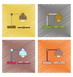 assembly flat shading style icon lamp open book vector image