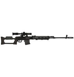 Black sniper rifle vector