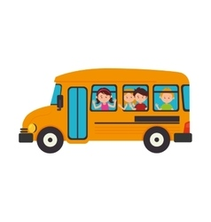 Bus school transport icon vector