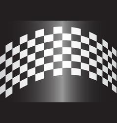 checkered curve gray gradient design race sport vector image
