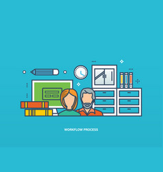 Collaboration and workflow business planning vector