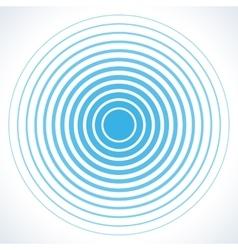 Concentric circle elements radar screen vector