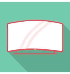 Curved tv icon flat style vector