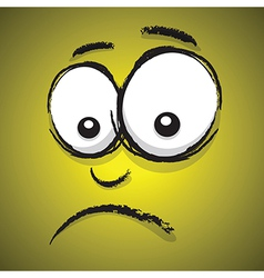 emotions yellow unhappy vector image vector image