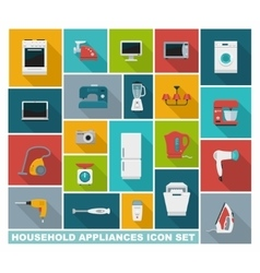 Flat icons household appliances vector image vector image