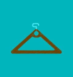 Flat shading style icon hanger vector