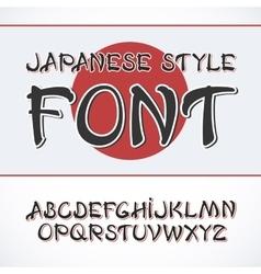Handwritten brush font white letters vector