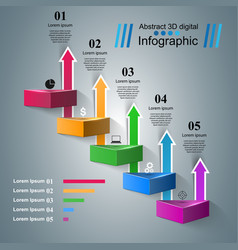 infographic icons arrows icon vector image vector image