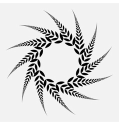 Laurel wreath tattoo black spiral ornament sign vector