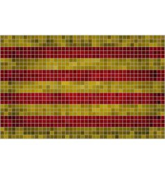 Mosaic flag of catalonia vector