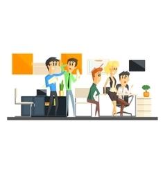 Office team working vector