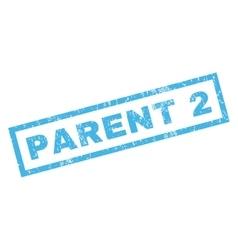 Parent 2 rubber stamp vector