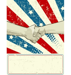Patriotic design with handshake vector