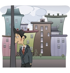 sad man cartoon vector image