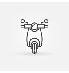 Scooter linear icon vector image