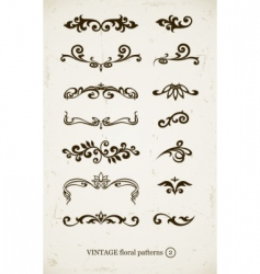 set of vintage decorative vector image vector image