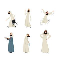 six arab men vector image vector image