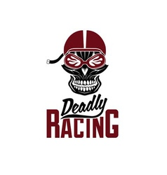 Skull racer with flame glasses vintage design vector