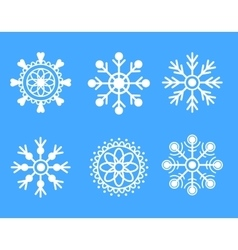 Snowflakes white icon set vector image vector image
