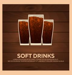 Soft drinks bunner fast food restauran menu vector