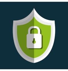 Technology data digital security design vector