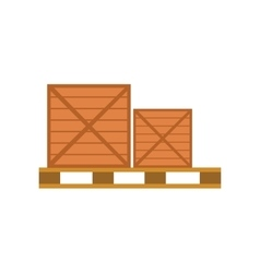 Worldwide warehouse deliver pallet with boxes vector
