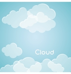 Blue and white design of cloud icon vector