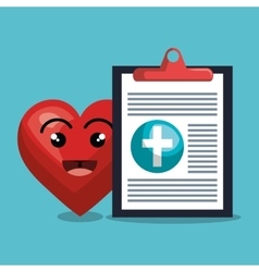 Report medical cardiology heart isolated design vector