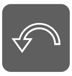Rotate left flat squared icon vector