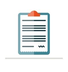 Medical prescription pad icon vector