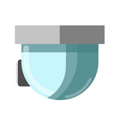 Cctv glass technological device and attached to vector