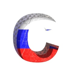 Russian cutted figure c paste to any background vector