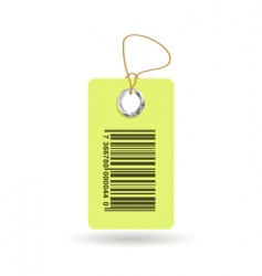 tag with bar code vector image