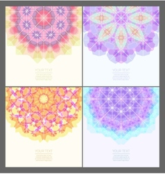 Set of geometric creative banners vector
