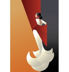 Art deco styled spain flamenco dancer vector