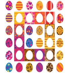 Easter colored eggs vector