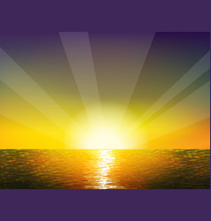 Sunrise on the sea vector