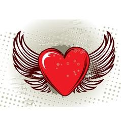 grunge valentine background vector image