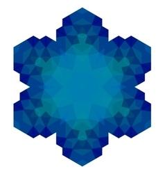 Polygonal blue symbol vector
